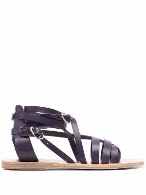 Сандалии Satira с открытым носком Ancient Greek Sandals. Цвет: синий