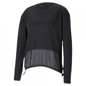 Куртка Forever Luxe Cover Up Women's Training Jacket PUMA. Цвет: черный