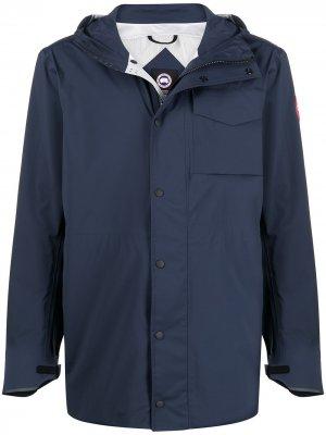 Куртка с нашивкой-логотипом Canada Goose. Цвет: синий