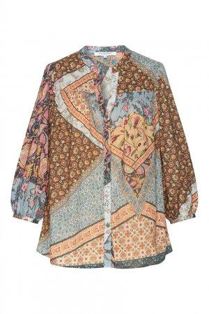 Блузка из хлопка с принтом Nubia Gerard Darel. Цвет: multicolor
