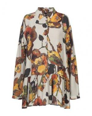 Короткое платье I'M ISOLA MARRAS. Цвет: светло-серый