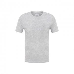 Хлопковая футболка C.P. Company. Цвет: серый