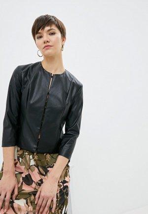 Куртка кожаная Liu Jo. Цвет: черный
