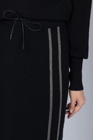 Сет из черного пуловера и юбки миди Fabiana Filippi
