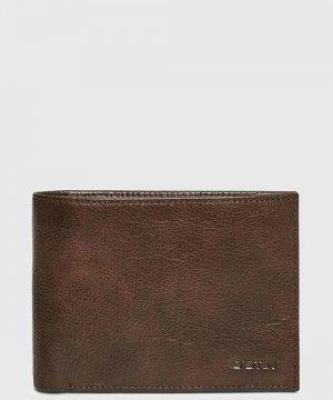 Кожаное портмоне O`Stin. Цвет: темно-коричневый
