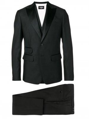 Деловой костюм-тройка Dsquared2. Цвет: черный