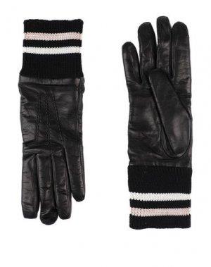 Перчатки LANVIN. Цвет: черный