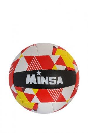 Мяч Minsa. Цвет: красный, белый, желтый