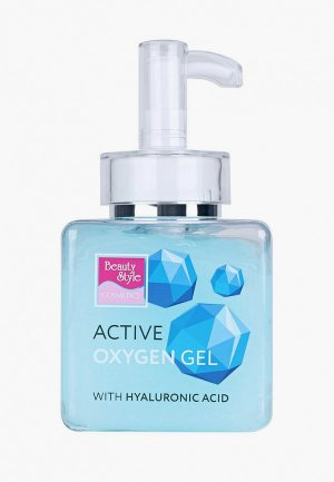 Гель для лица Beauty Style активный Кислородный с гиалуроновой кислотой 250 мл. Цвет: голубой