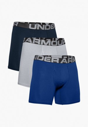 Трусы 3 шт. Under Armour UA Charged Cotton 6in Pack. Цвет: разноцветный