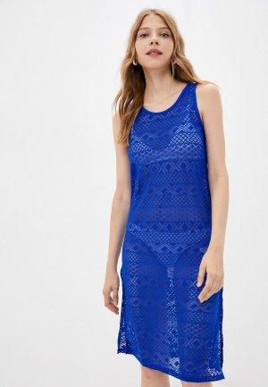 Платье пляжное Joss. Цвет: синий