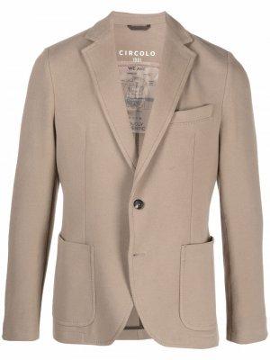 Однобортный пиджак с заостренными лацканами Circolo 1901. Цвет: нейтральные цвета