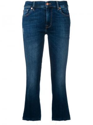 Укороченные джинсы кроя слим 7 For All Mankind