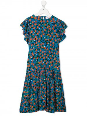 Платье Flamenco с принтом Bobo Choses. Цвет: синий