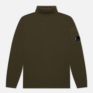 Мужской свитер Merino Wool Roll Neck Knit C.P. Company. Цвет: зелёный