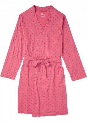 Халат банный bonprix. Цвет: розовый