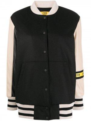 Куртка-бомбер с логотипом на рукаве Peserico. Цвет: нейтральные цвета