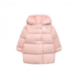 Пуховое пальто Emporio Armani. Цвет: розовый