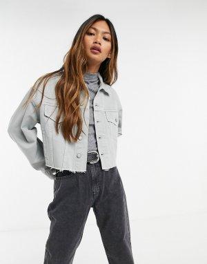 Укороченная джинсовая куртка из переработанного хлопка Harvey-Голубой Boyish