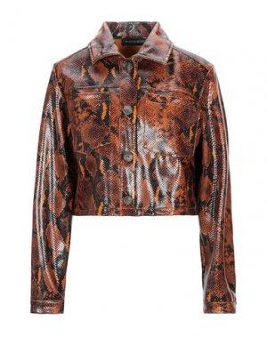 Куртка VANESSA SCOTT. Цвет: коричневый