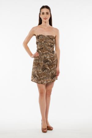 Dress Liquorish. Цвет: leopard brown