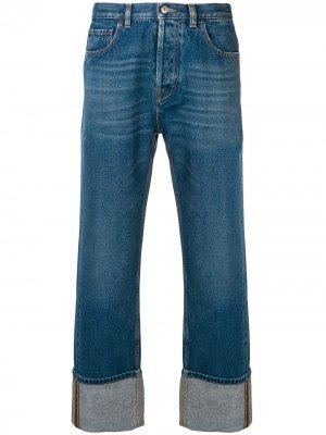 Широкие джинсы Valentino. Цвет: синий