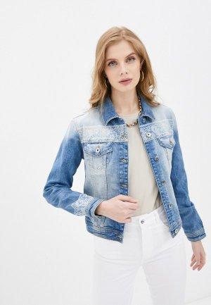 Куртка джинсовая Liu Jo. Цвет: голубой