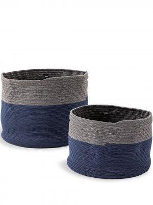 Набор Podor из двух корзин Cassina. Цвет: синий