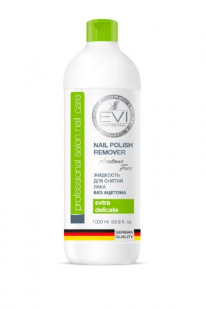 Жидкость д/снятия лака 1000 мл EVI professional. Цвет: белый