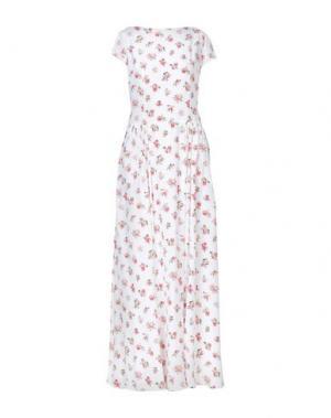 Длинное платье ALEXANDER TEREKHOV. Цвет: белый
