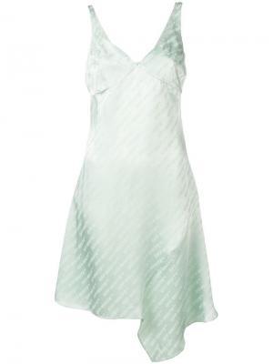 Платье с принтом монограмм Off-White