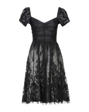 Короткое платье ETXART & PANNO. Цвет: черный