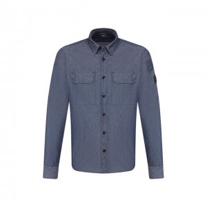 Хлопковая рубашка C.P. Company. Цвет: синий