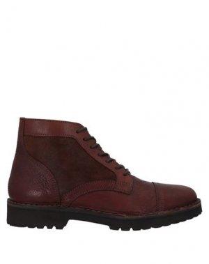 Полусапоги и высокие ботинки ELEVENTY. Цвет: коричневый