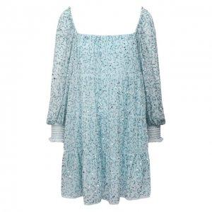 Платье с пайетками Alice + Olivia. Цвет: голубой