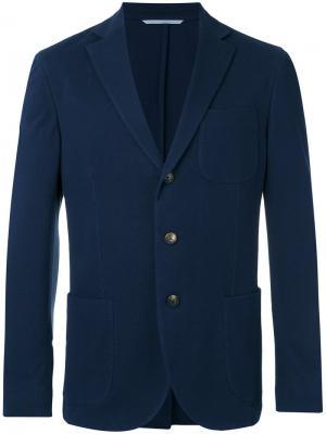 Классический пиджак Malo. Цвет: синий