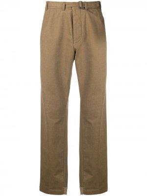 Прямые брюки Haider Ackermann. Цвет: коричневый