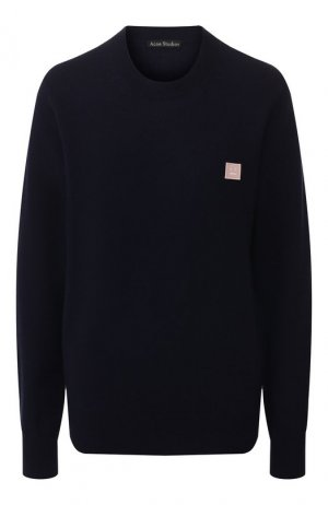 Шерстяной пуловер Acne Studios. Цвет: темно-синий
