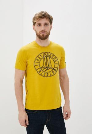 Футболка Aeronautica Militare. Цвет: желтый