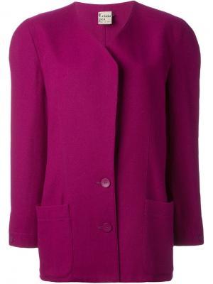 Блейзер с плечевыми накладками Krizia Pre-Owned. Цвет: розовый