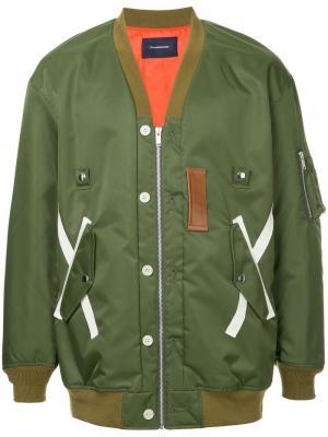 Куртка-бомбер в стиле оверсайз John Undercover. Цвет: зеленый