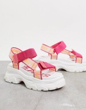 Розовые сандалии в спортивном стиле -Красный Tommy Hilfiger
