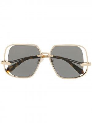 Солнцезащитные очки Hypatia Karen Walker. Цвет: золотистый