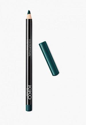 Карандаш для глаз Kiko Milano каял внутреннего контура век COLOUR KAJAL оттенок 08, Forest Green, 1.05 г. Цвет: бирюзовый