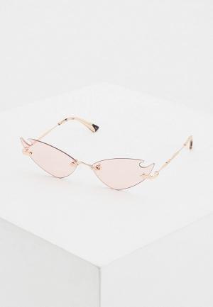 Очки солнцезащитные McQ Alexander McQueen MQ0222S 003. Цвет: розовый