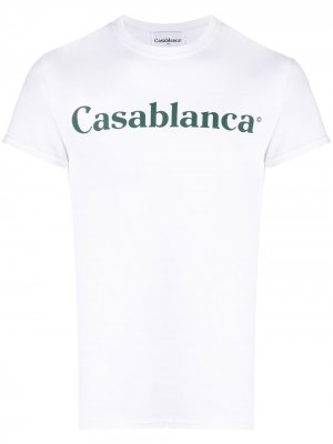 Футболка с логотипом Casablanca. Цвет: белый