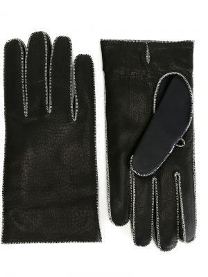 Перчатки Maison Margiela. Цвет: чёрный