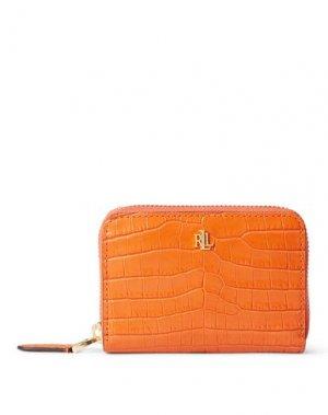 Бумажник LAUREN RALPH. Цвет: оранжевый