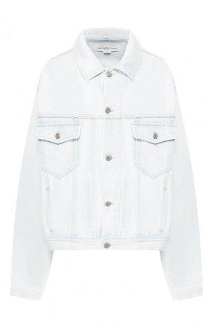 Джинсовая куртка Golden Goose Deluxe Brand. Цвет: голубой