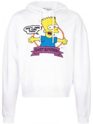 Толстовка Bart с капюшоном Off-White. Цвет: белый